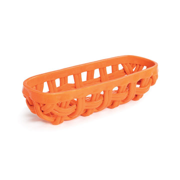 Ceramic Baguette Basket - Orange