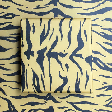 Mustard Tiger Wrapping Paper