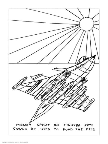 David Shrigley Fighter Jets Postcard