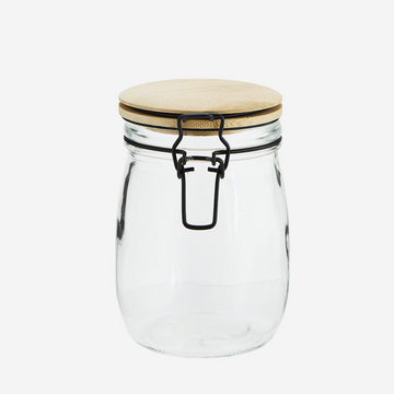 Glass Jar with Bamboo lid - 0,75L