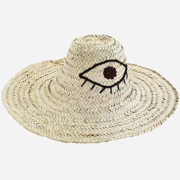 Straw Hat with Embroidery