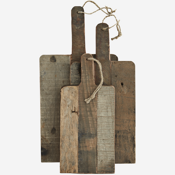 Set of 3 Wooden Boards - Natural Recycled wood