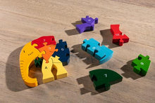 Load image into Gallery viewer, Alphabet Jigsaws - Number Elephant Jigsaw Puzzle