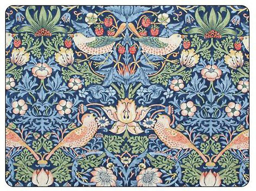 Morris and Co for Pimpernel Strawberry Thief Blue Placemats Set Of 6