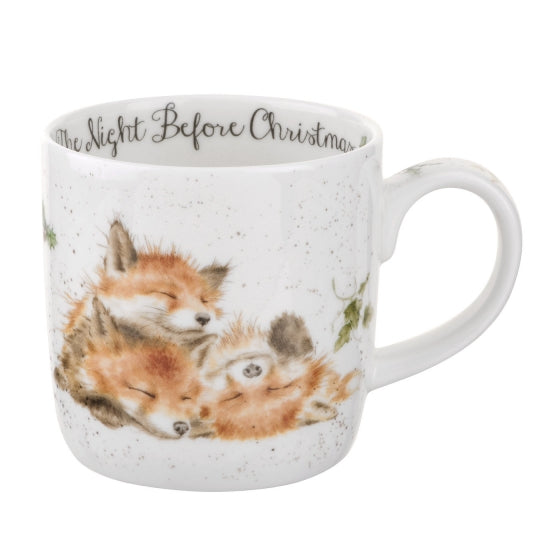Royal Worcester Wrendale Designs The Night Before Christmas Fox Fine Bone China Mug