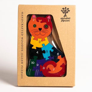 Alphabet Jigsaws - Number Cat Jigsaw Puzzle