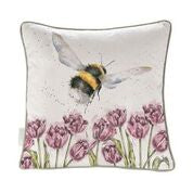 Load image into Gallery viewer, Wrendale 'Flight of the Bumblebee' cushion