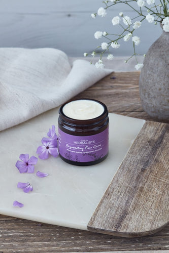 Dublin Herbalists - Regenerating Face Cream - With anti-aging Hyaluronic Acid Gel
