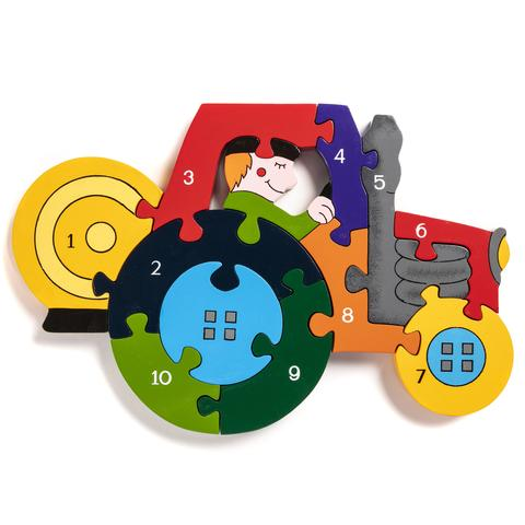 Alphabet Jigsaws - Number Tractor Jigsaw Puzzle