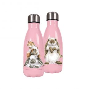 Wrendale 'Piggy in the Middle' small water bottle