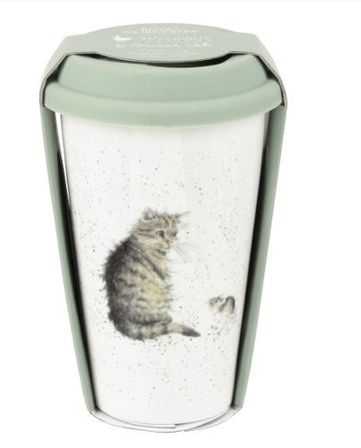 Wrendale Cat travel Mug with Silicone Lid