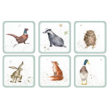 Load image into Gallery viewer, Wrendale Designs Coasters Set of 6 (Pimpernel)