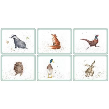 Wrendale Designs Placemats Set of 6 (Pimpernel)
