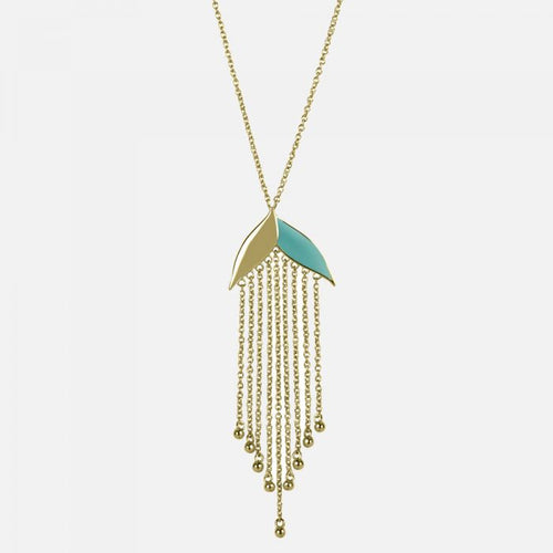 Sara Miller Fringe leaf necklace