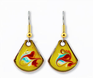 Maeb Enamels - Electric Blue Small T Drop Earrings