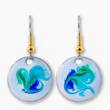 Load image into Gallery viewer, Maeb Enamels - Electric Blue - Small Drop Earrings