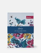 Load image into Gallery viewer, Joules Cambridge Floral Memo & Sticky Notes
