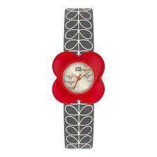 Orla Kiely Ladies Poppy Red Flower Case Grey Stem Print Strap