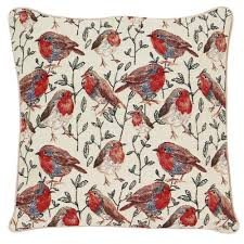 Signare Tapestry Cushion Cover - Robin