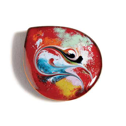 Maeb - Red Brooch (Enamel Brooch)
