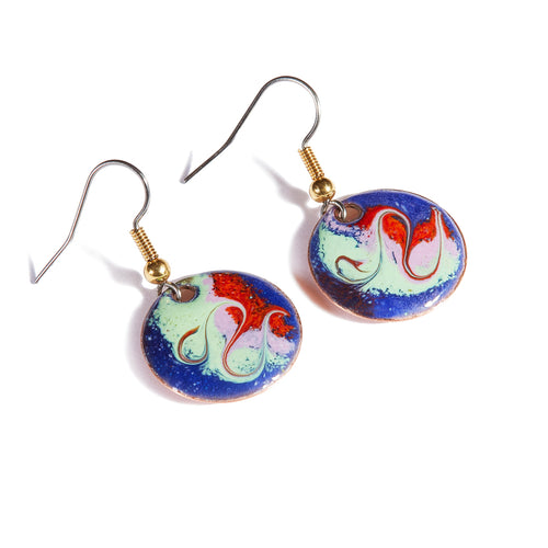 Maeb Enamels - Electric Blue - Small Drop Earrings