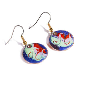 Maeb Enamels - Grecian White - Small Drop Earrings