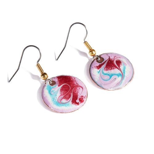 Maeb Enamels - Pinky Mauve - Small Drop Earrings