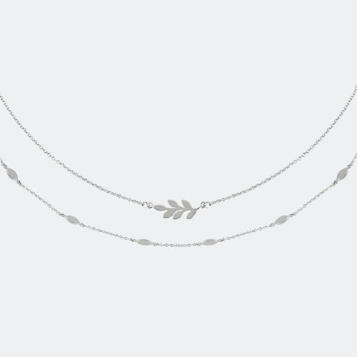 Sara Miller Double-row leaf necklace