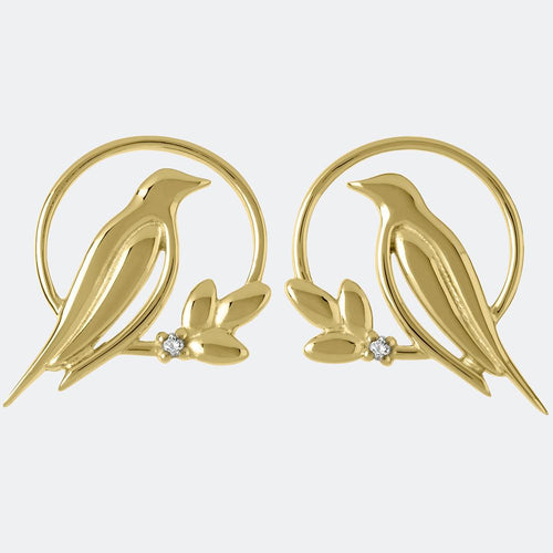 Sara Miller Diamond Bird Stud Earrings