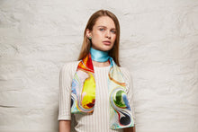 Load image into Gallery viewer, Maeb Enamels -  Silk Scarf - Turquoise