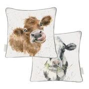 Wrendale 'Moooo' large cushion
