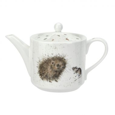 Wrendale Designs Teapot Hedgehog and Mice (Royal Worcester)