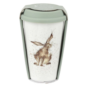 Wrendale Hare Travel Mug with Silicone Lid