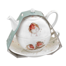 Load image into Gallery viewer, Royal Worcester Wrendale Designs Tea For One With Saucer (Robins)