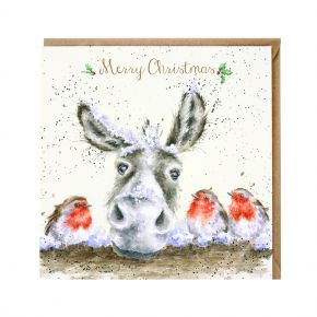 Wrendale Greeting Card - The Christmas Donkey