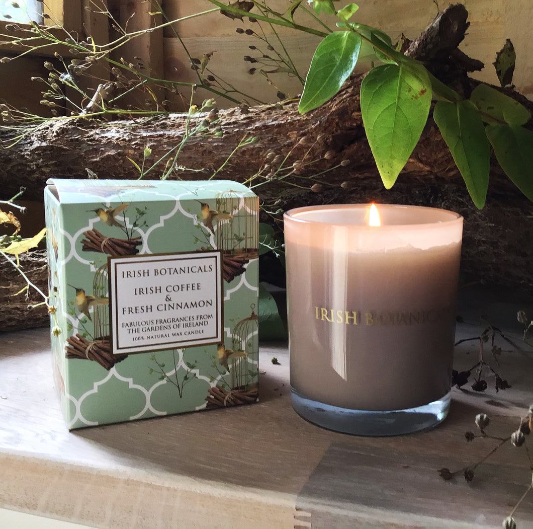 Irish Botanicals - Irish Coffee & Fresh Cinnamon Candle