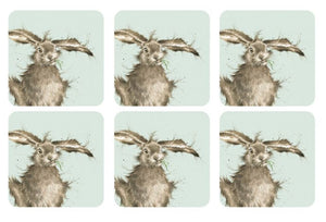 Wrendale Designs  Hare Coasters Set of 6 (Pimpernel)