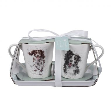 Wrendale Designs Mug and Tray Set - Dogs
