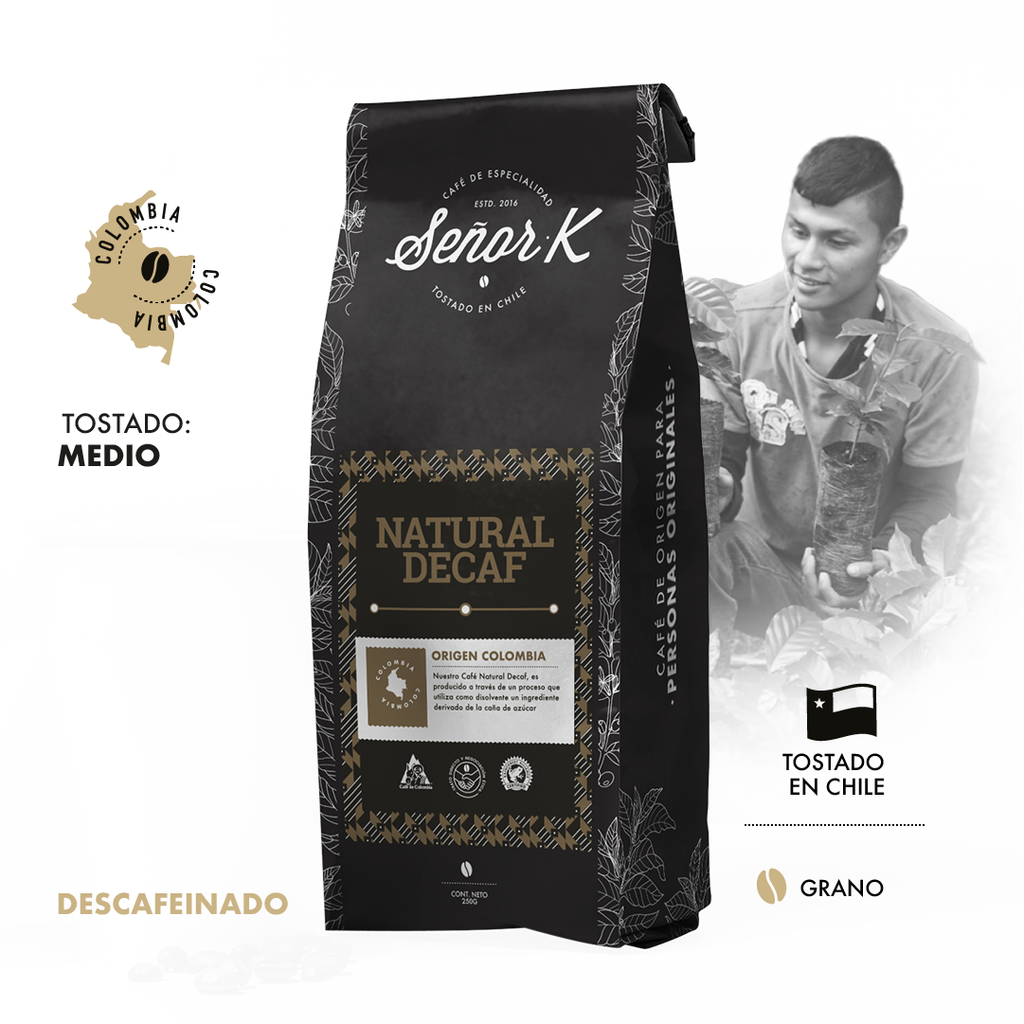 Café de Colombia - Natural Descafeinado 250 Gr