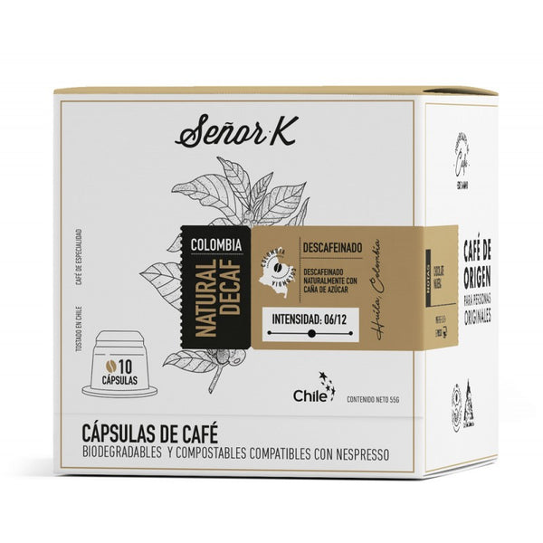 Cápsulas de Café Compostables - Colombia - Natural Descafeinado