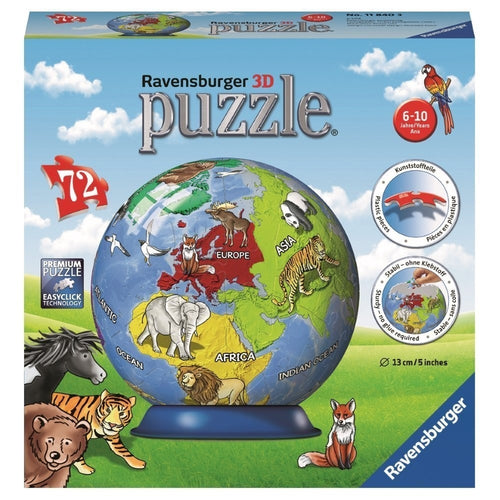 Ravensburger 3D Puzzleball Globe,  72Pc