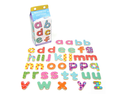 Milk Carton Wooden Magnetic Letters - Lowercase