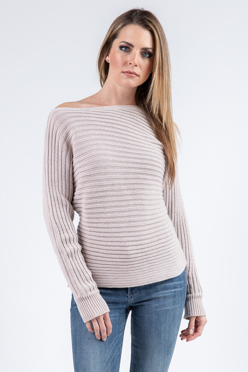 LUCA OFF-SHOULDER SWEATER