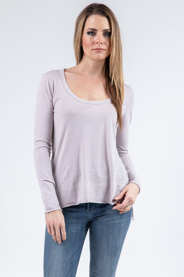 DEEP SCOOP LONG SLEEVE TEE