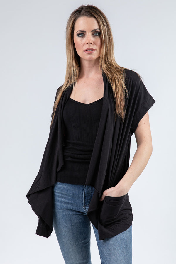 REMI SHORT SLEEVE CARDIGAN
