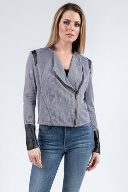 SIDE ZIP DRAPE JACKET