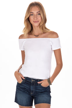 IMELDA OFF SHOULDER TEE