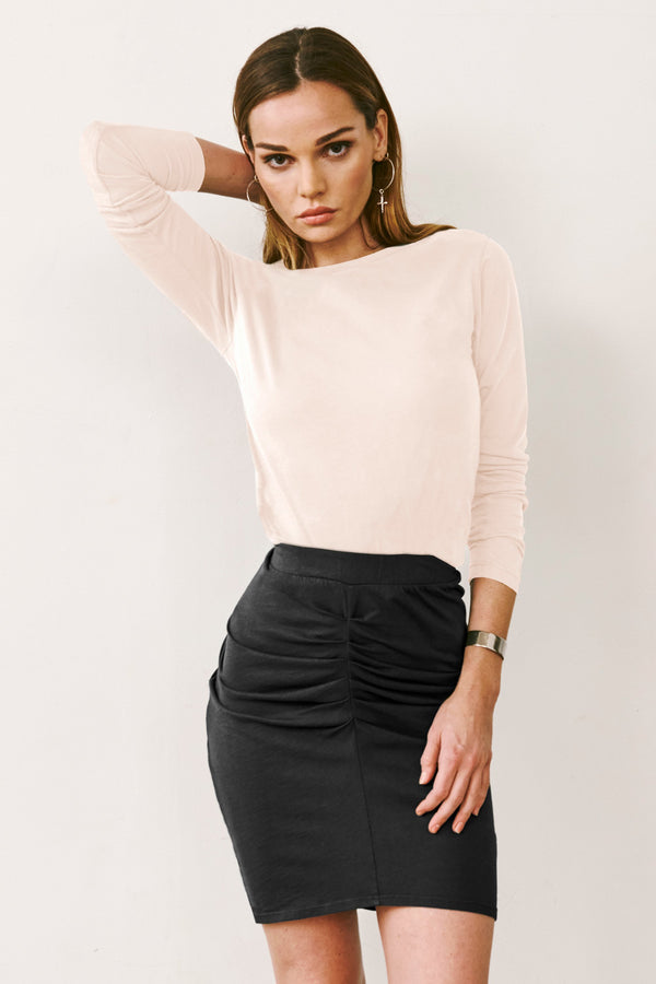 LANI CROP CREW NECK TEE