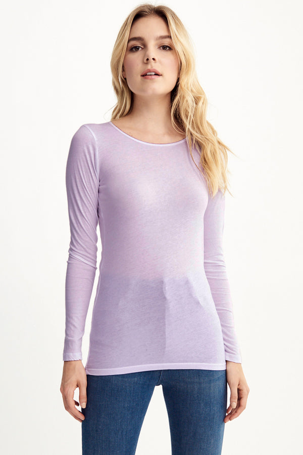 LONG SLEEVE CREW NECK - HEIRLOOM LILAC