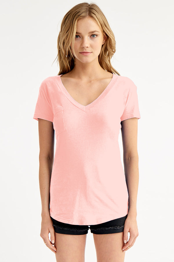 V NECK POCKET TEE - SPRING 20
